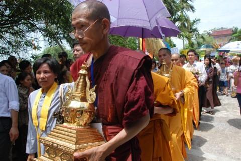 Ninh Bình: Đại lễ Phật đản và cung nghinh Xá lợi Phật về Tổ đình Kim Liên (chùa Đồng Đắc) ảnh 16