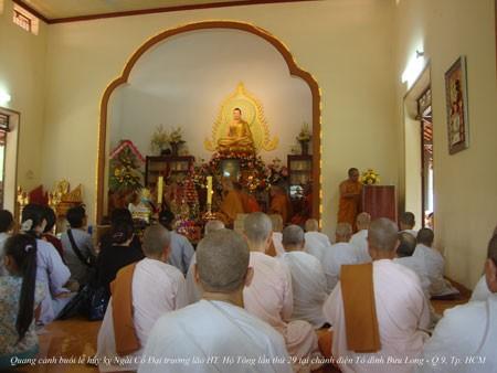TP.HCM: Trang nghiêm tưởng niệm nhân lễ húy nhật lần thứ 29 cố Hòa thượng Hộ Tông ảnh 3