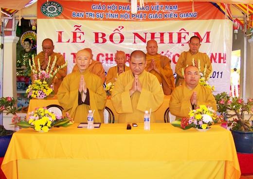 Kiên Giang: Bổ nhiệm ĐĐ. Thích Minh Thanh trụ trì chùa Phước Thạnh - TP. Rạch Giá ảnh 1