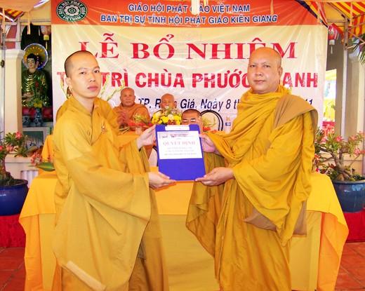Kiên Giang: Bổ nhiệm ĐĐ. Thích Minh Thanh trụ trì chùa Phước Thạnh - TP. Rạch Giá ảnh 7