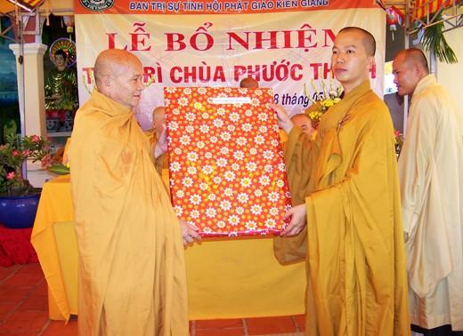 Kiên Giang: Bổ nhiệm ĐĐ. Thích Minh Thanh trụ trì chùa Phước Thạnh - TP. Rạch Giá ảnh 10
