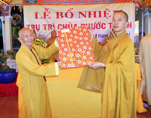 Kiên Giang: Bổ nhiệm ĐĐ. Thích Minh Thanh trụ trì chùa Phước Thạnh - TP. Rạch Giá ảnh 11