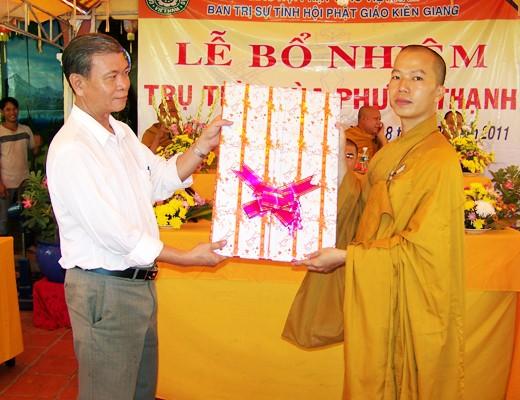 Kiên Giang: Bổ nhiệm ĐĐ. Thích Minh Thanh trụ trì chùa Phước Thạnh - TP. Rạch Giá ảnh 12