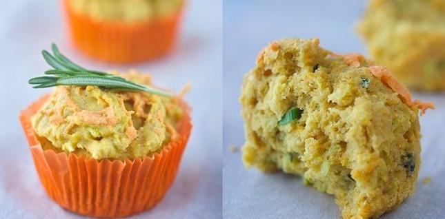 Muffin bí xanh cho người ăn chay