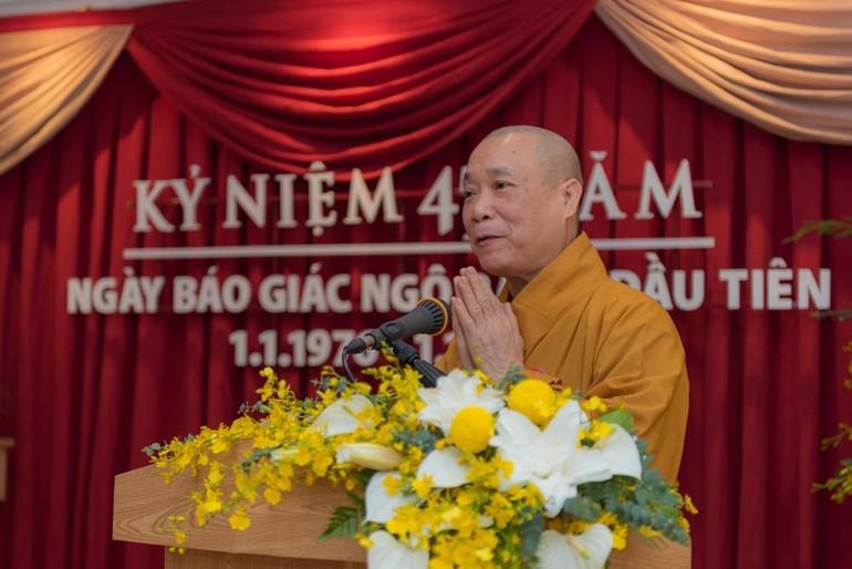 Hòa thượng Thích Bảo Nghiêm, Phó Chủ tịch Hội đồng Trị sự, Trưởng ban Hoằng pháp GHPGVN - Ảnh: Đăng Huy