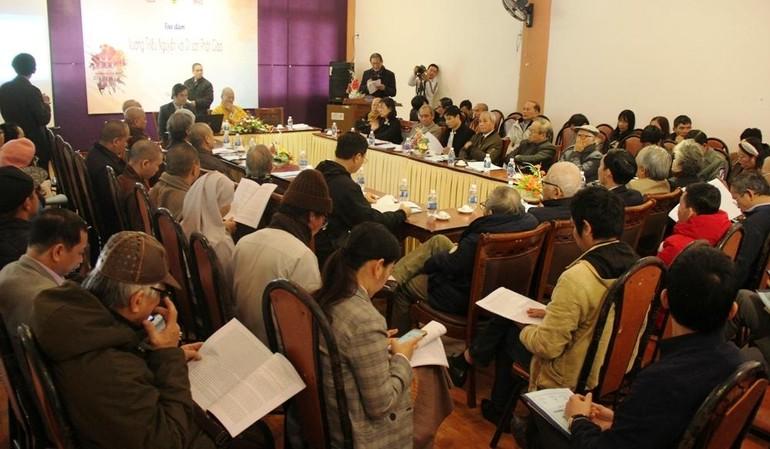 Buổi tọa đàm diễn ra tại Trung tâm Văn hóa Phật giáo Liễu Quán - Huế