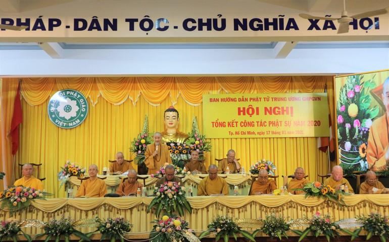 Hòa thượng Thích Thanh Hùng, Trưởng ban Hướng dẫn Phật tử Trung ương phát biểu