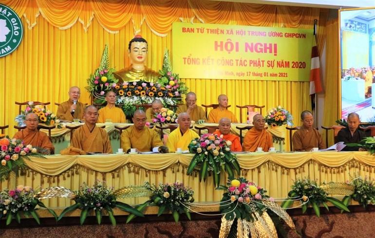 Lễ tổng kết của Ban Từ thiện xã hội Trung ương GHPGVN tổ chức tại Văn phòng 2 Trung ương Giáo hội