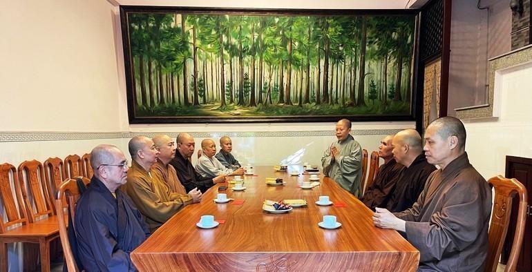 Buổi họp của Thường trực Ban Trị sự GHPGVN quận 12 tại chùa Vĩnh Phước