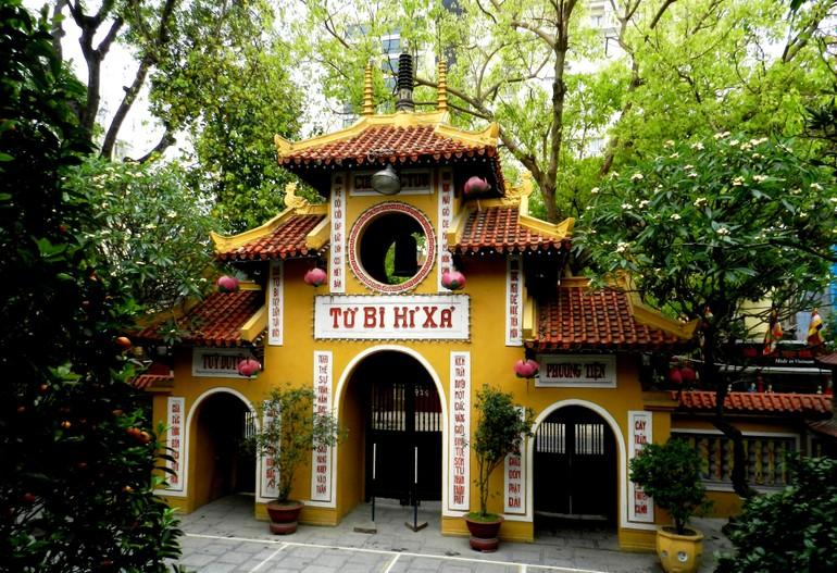 Tam quan chùa Quán Sứ (Hà Nội) - Trụ sở Trung ương GHPGVN