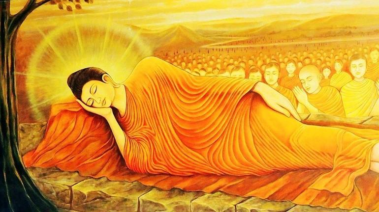 Đức Thế Tôn nhập niết-bàn (tranh Phật giáo nước ngoài)