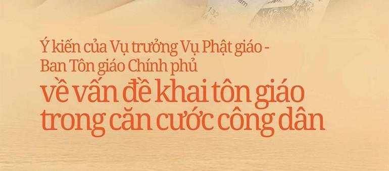 """Ông Nguyễn Phúc Nguyên: """"Yêu cầu trưng dẫn giấy chứng nhận Phật tử là điều không có gì phiền hà"""""""