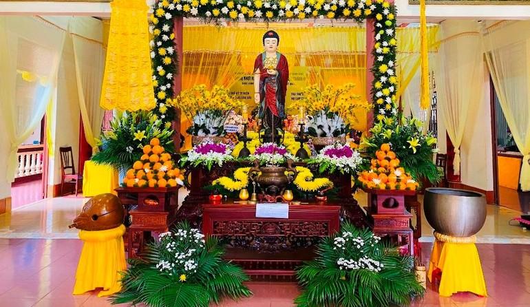 Tang lễ Trưởng lão Hòa thượng Thích Từ Hương tổ chức tại chùa Bửu Nghiêm, TP.Pleiku - Ảnh: Ban TTTT GHPGVN Gia Lai