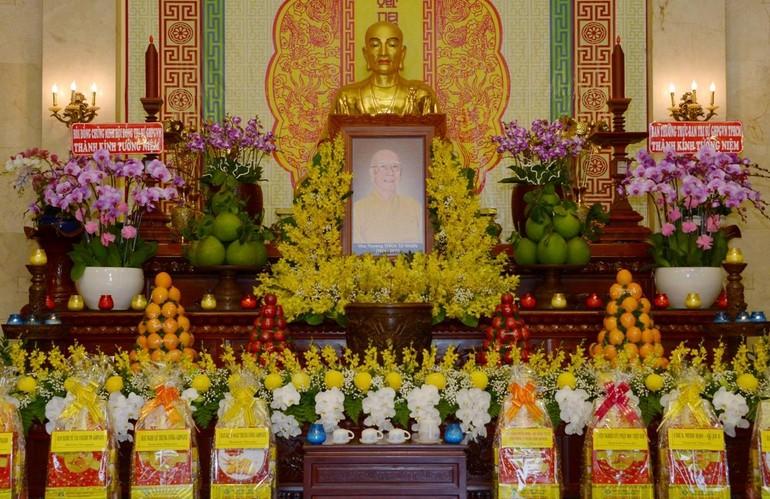 Di ảnh Đại lão Hòa thượng Thích Từ Nhơn tại Việt Nam Quốc Tự