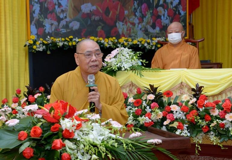 Hòa thượng Thích Thiện Pháp phát biểu khai mạc hội nghị chuyên đề về Đại giới đàn