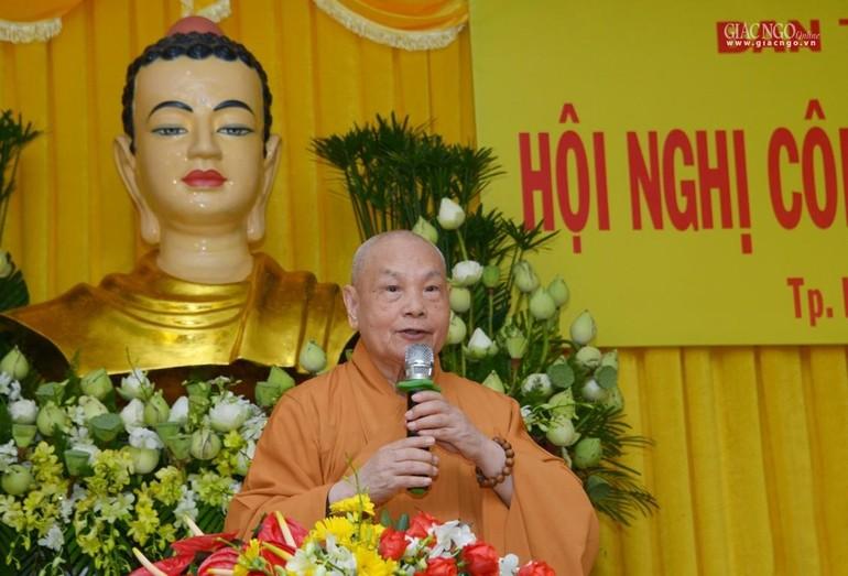 Hòa thượng Thích Thiện Nhơn, Chủ tịch Hội đồng Trị sự GHPGVN - Ảnh: Bảo Toàn