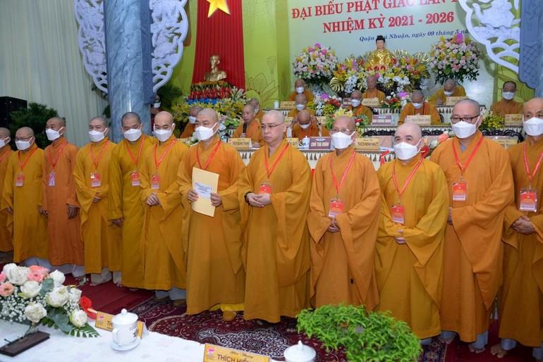 Tân Ban Trị sự GHPGVN quận Phú Nhuận nhiệm kỳ 2021-2026 ra mắt tại đại hội