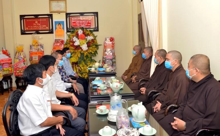 Lãnh đạo quận Bình Thạnh thăm Ban Trị sự GHPGVN quận