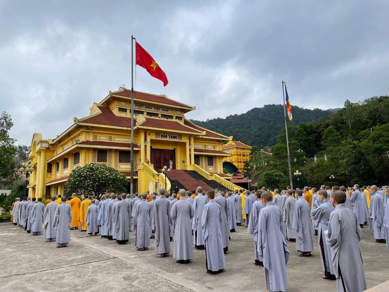 Điểm bầu cử Học viện Phật giáo VN tại Hà Nội - Ảnh: PSHV