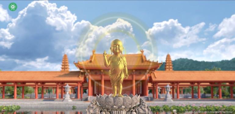 Thiết kế cho ứng dụng Tắm Phật online được thực hiện khá sinh động