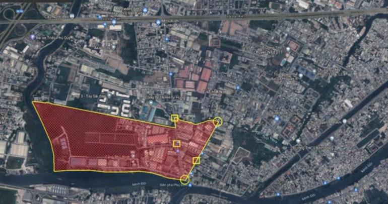 Khu vực khu phố 2, phường 16 được UBND quận 8 được phong tỏa từ 12h ngày 21-6