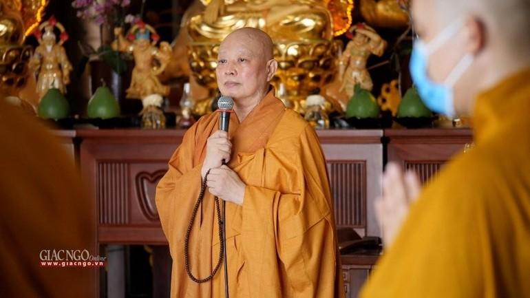 8g30 sáng 3-7, trực tuyến lễ tụng kinh Phổ Môn từ Hạ trường cấm túc an cư Huê Nghiêm