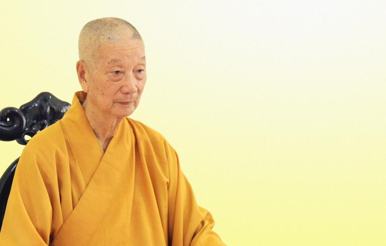 Trưởng lão Hòa thượng Thích Trí Quảng - Ảnh: Quảng Điền