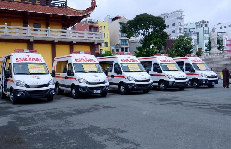 Xe cứu thương chuyên dụng IVECO do Trường Hải sản xuất, mỗi xe giá trị 1,2 tỷ đồng