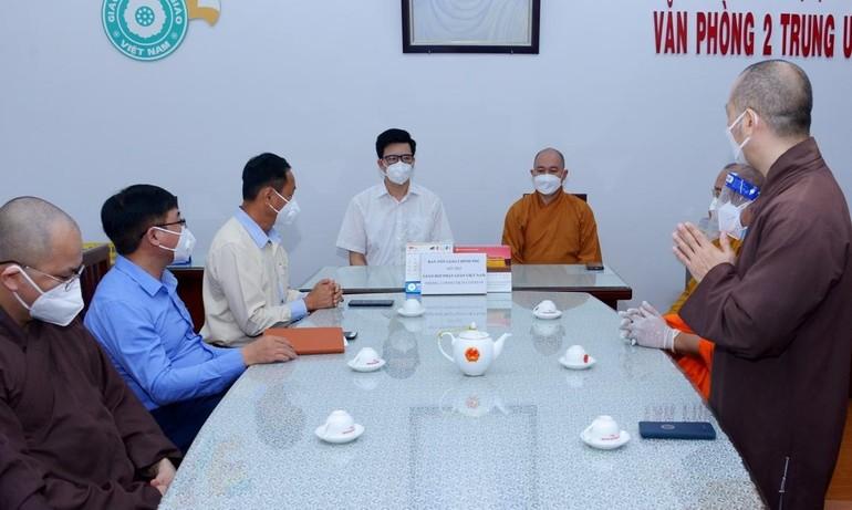 Buổi thăm và làm việc tại Văn phòng 2 Trung ương GHPGVN - Thiền viện Quảng Đức, TP.HCM