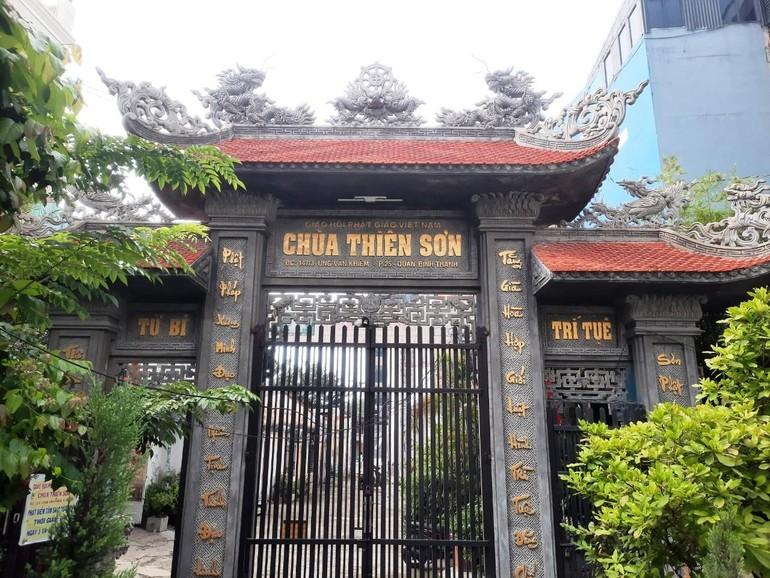 Chùa Thiên Sơn trên đường Ung Văn Khiêm, quận Bình Thạnh - Ảnh: Đồng Nhất