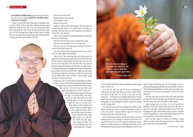 Thầy Thích Thiện Tâm, một vị tu sĩ tham gia nhiều hoạt động đưa Phật pháp vào nhà tù ở Mỹ