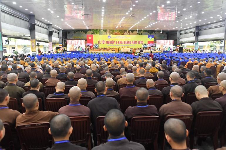 Lễ tốt nghiệp và tổng khai giảng năm 2020 tổ chức ở cơ sở 2 Học viện Phật giáo VN tại TP.HCM