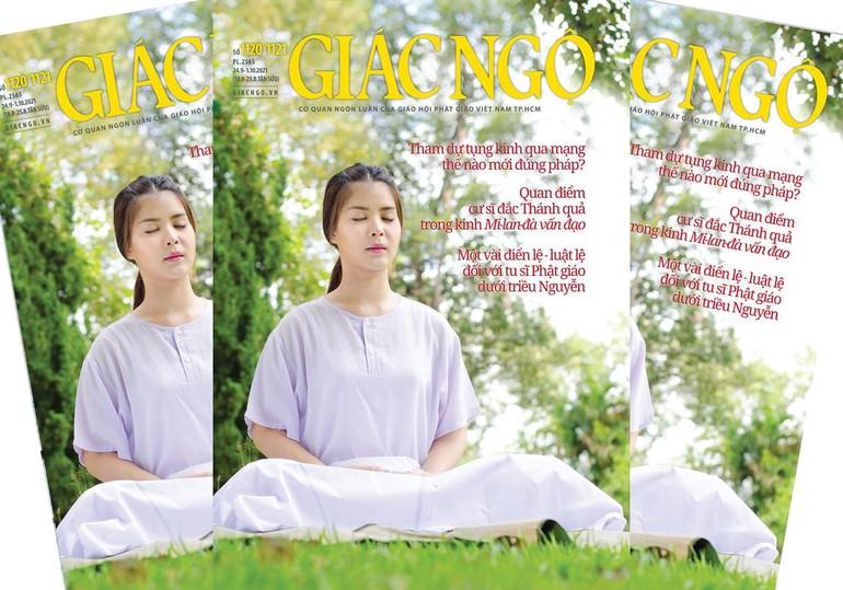 Bìa 1 Báo Giác Ngộ số 1120 - 1121 - Mỹ thuật: Tống Viết Diễn