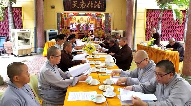 Ban Trị sự và chính quyền quận 8 họp triển khai công tác chuẩn bị đại hội Phật giáo cấp quận 2021.
