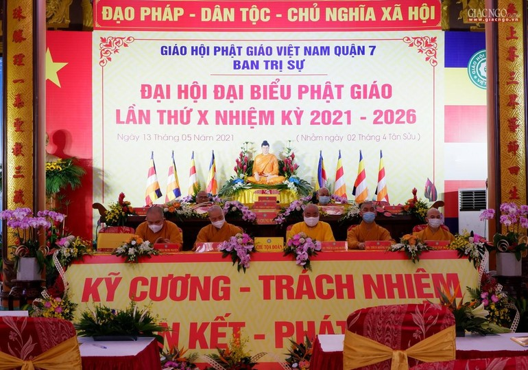 Ban Trị sự Phật giáo quận 7 tổ chức phiên trù bị Đại hội tại Long Hoa cổ tự
