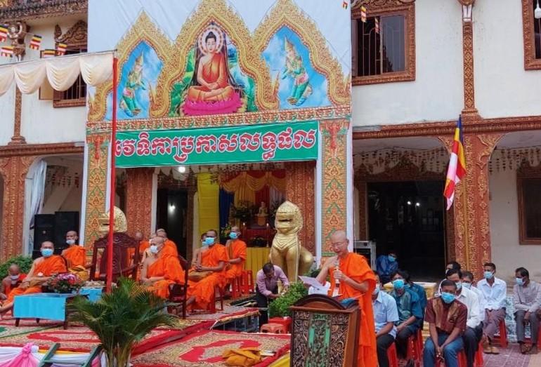 Thượng tọa Sơn Ngọc Huynh phát biểu tại lễ khai mạc kỳ thi