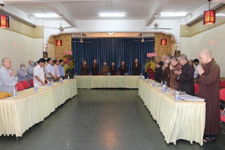 Lễ tổng kết Phật sự năm 2020 của Phật giáo quận 5 tổ chức chiều qua, 7-1