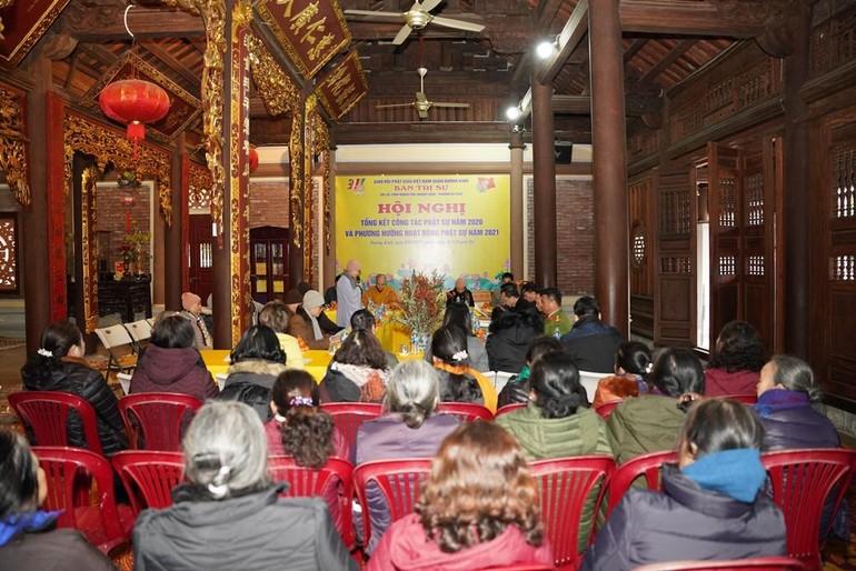 Quang cảnh hội nghị tổng kết Phật sự của Phật giáo quận Dương Kinh