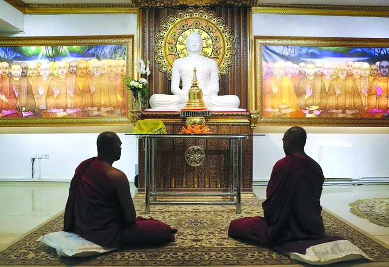Chánh điện Mahamevnawa Buddhist Monastery ở Dubai, UAE - Ảnh: thenationalnews.com