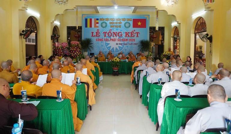 Quang cảnh lễ tổng kết Phật sự năm 2020 của Phật giáo quận Gò Vấp