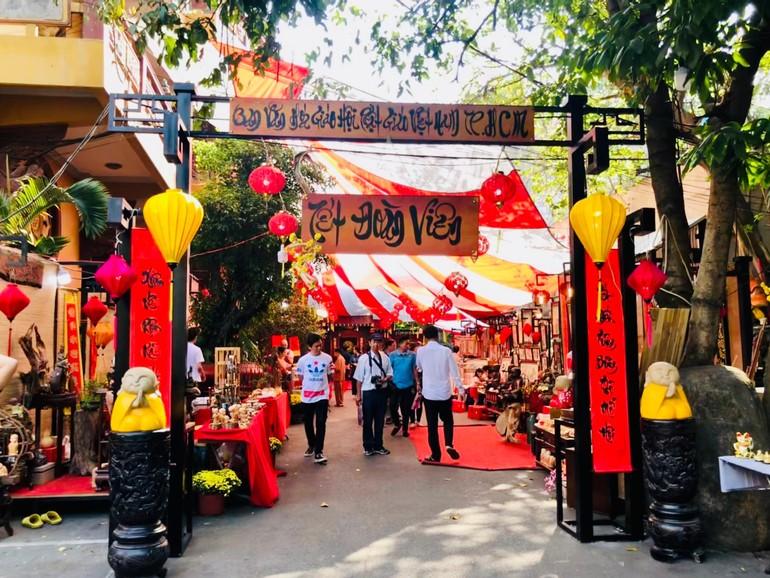 Không gian Tết Việt do Ban Văn hóa Phật giáo TP.HCM tổ chức trong những năm trước - Ảnh: Chí Giác Thông