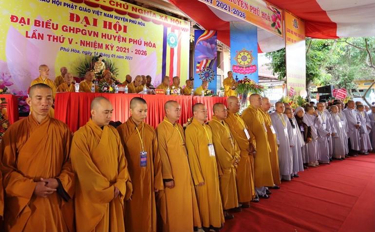 Tân Ban Trị sự Phật giáo huyện Phú Hòa ra mắt đại hội