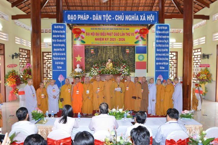 Ban Trị sự Phật giáo TP.Tây Ninh nhiệm kỳ 2021 - 2026 ra mắt đại hội