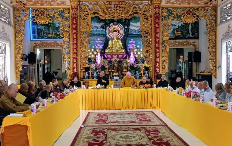 Buổi họp nội bộ của Phật giáo quận 11