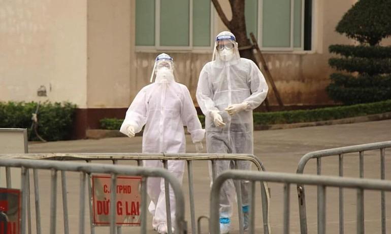 Nhân viên y tế tại Bệnh viện dã chiến số 1 Hải Dương. Ảnh: Bộ Y tế