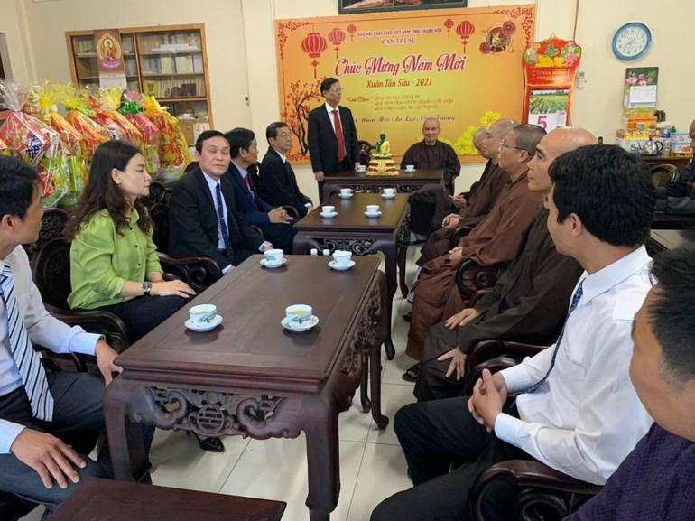 Buổi thăm, chúc tết của lãnh đạo tỉnh Khánh Hòa tại văn phòng Ban Trị sự tỉnh
