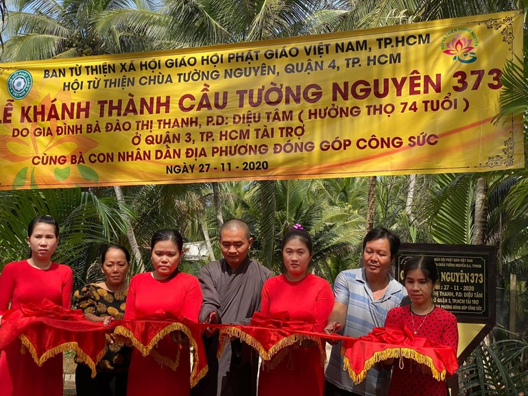 Hội Từ thiện Tường Nguyên khánh thành cây cầu nông thôn tại xã Hoà Lộc