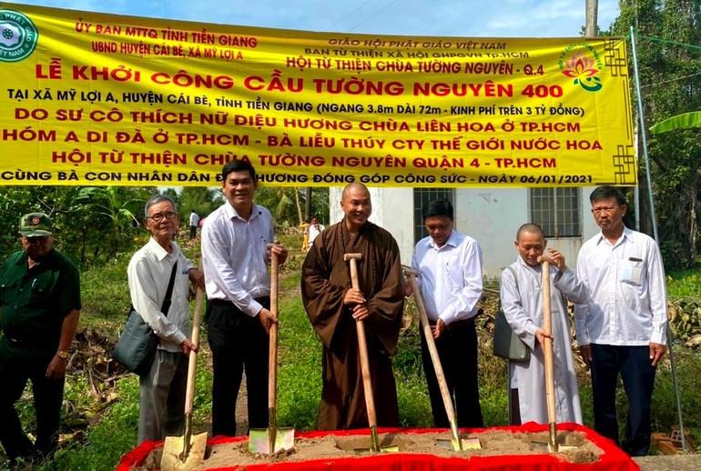 Hội Từ thiện Tường Nguyên động thổ khởi công 3 cây cầu nông thôn trong đầu năm mới