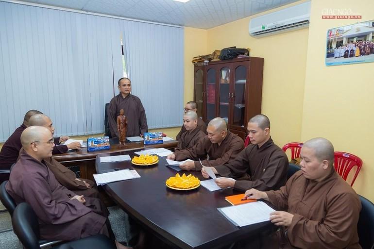 Thượng tọa Thích Tâm Hải phát biểu khai mạc buổi tổng kết hoạt động Phật sự năm 2020