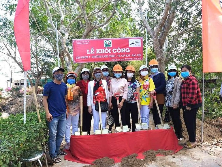 Dự kiến, cây cầu tại phường Láng Tròn được thi công trong thời gian 2 tháng sẽ hoàn thành